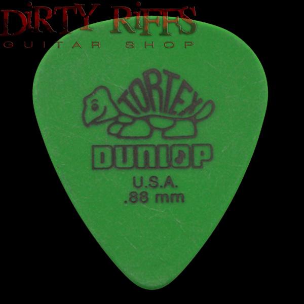 dunlop tortex standard guitar picks green 088mm in